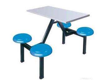 四人位玻璃钢餐桌