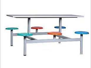六人位不锈钢餐桌