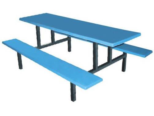 六人位平板玻璃钢餐桌